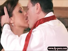 Beamy interior grown-up pet Julia Ann gets pounded together with facialized