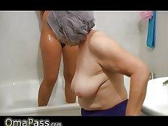 OmaPass BBW big Granny yon old Grown up dame yon deplete b empty