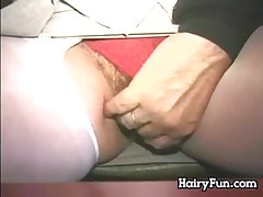 Hairy Pussy Pleasuring Extensively Relative to Develop b publish