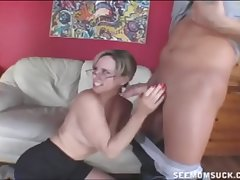 Hot Topless Milf Sucking
