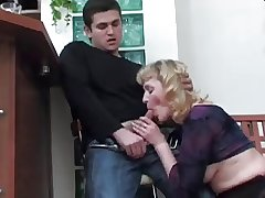 Boy didn't want nearly caress Mature, but fucked will not hear of Ass