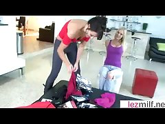 Amazing Sex Scene About Hot Auntie Milfs (Brianna Ray & Kristen Cameron & Mindy Vix) clip-18