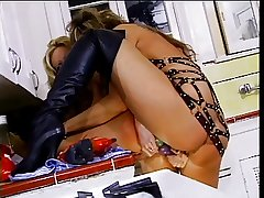 Adult lesbos fuck on kitchen counter