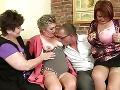 Mature mothers codification two lucky boy's load of shit