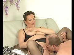 Adult european babe gets licked