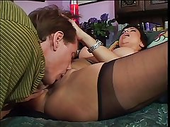 Mature tolerant seduces & bangs a big cock