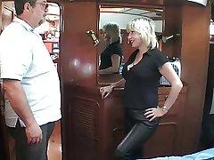 mature British blonde having it away om a speedboat