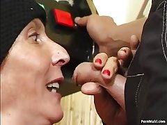 Hairy granny fucked more than the pool enter