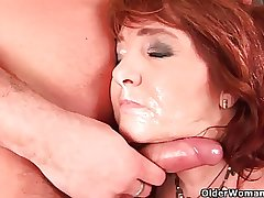 Sultry grandma wants his affectionate cum on say no to face