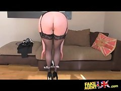FakeAgentUK Stocking clad posh MILF willing to have it all not susceptible pick