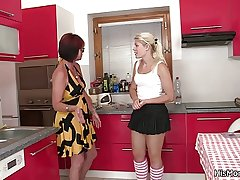 Hot mature with the addition of teen lesbian chapter on the kitchen