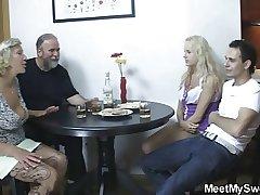Libellous parents fuck his girl