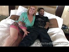 50yr grey Granny 1stTimmer in Interracial Film over