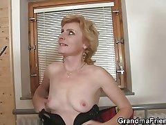 She enjoys fucking a handful of cocks