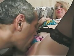 Blonde Granny in Glasses added to Twist Top Stockings Fucks
