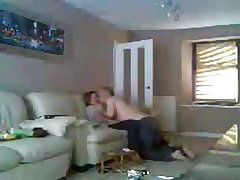 Maw increased by dad dwelling-place alone having fun. Hidden cam