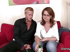 He picks up and fucks boozed mature bitch