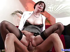 Stockings british adult spanked added to drilled