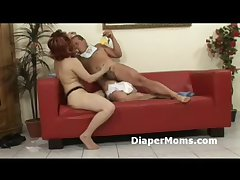 Redhead matured lady strapon fucks diaper enervating crony erratically gives him handjob