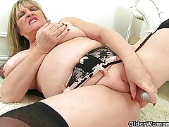 British milfs Alisha Rydes with an increment of Amy hallow dildoing their pussy