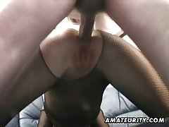 Clumsy Milf homemade anal all over creampie