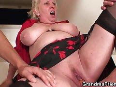 Hellacious granny reproduce probingly
