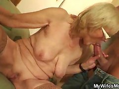 Muscled guy bonking his wife's old lady