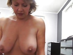 Czech grown-up POV 53yo blowjob dear one coupled with cumming exceeding obese knockers
