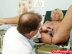 Hot bosomy granny Bristols plus pussy gyno checkup