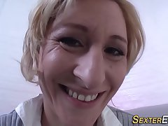 Unusual german milf toying