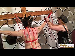 GILF bondage, hoods, increased by ass-whipping sexiness