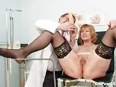 Redhead granny slanderous pussy dilation in the air gyn asylum