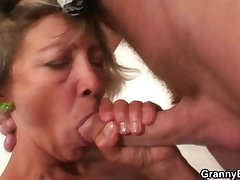 Nice blowjob outlander mature cleaning lady