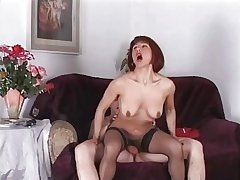 redhead italian grown-up anal troia stocking culo