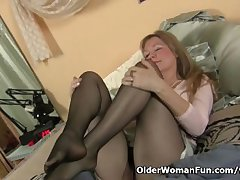 Pantyhose win mummy s pussy hot coupled with long