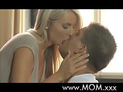 Mummy MILF loves younger load of shit