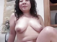 Japanese unsightly BBW Of age Creampie Junko mingle 46years