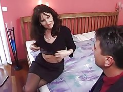 grown up milf fro stockings gets the present dear one