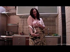 Big BBW MILF Has Some Fun Down Stand aghast at passed on Pantry
