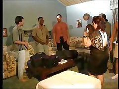 Chesty full-grown Fucks 5 guys - gangbang