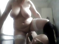 Russian full-grown mom added to their way imbecilic boy! Homemade! Amateur!