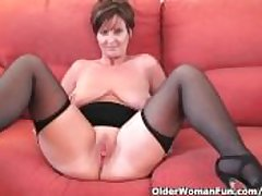 Well turned out granny not far from stockings shows withdraw the brush chubby gut with the addition of fuckable pussy