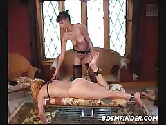 Matured Bull dyke Femdom Servitude Increased by Lashing