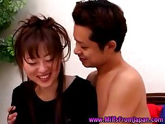 Asian milf housewife obtaining not susceptible Easy Street not susceptible