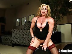 Obese adherent grown up tot rides a catch strenuous sybian