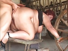 Matured SSBBW fucked hither along to something off