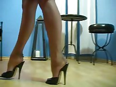 Blue MATURE'S Arms Forth NYLON STOCKINGS