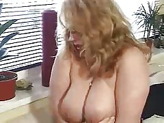 Horn-mad german BBW full-grown fingered coupled with fucked