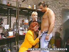 Redhead tyro Milf sucks with an increment of fucks all over facial cumshot
