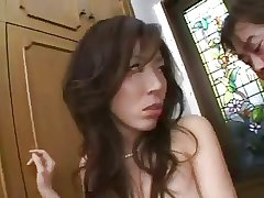 Drawing Japanese Mature's Cunt Creampied